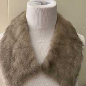 1950's Genuine Mink Collar Long Hair Gray